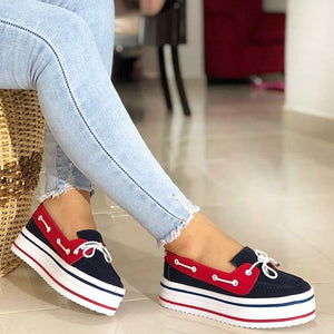 Women Casual Slip-On Bowknot Platform Sneakers