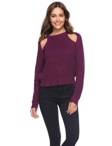 Sexy Off-Shoulder Long Sleeve Sweater