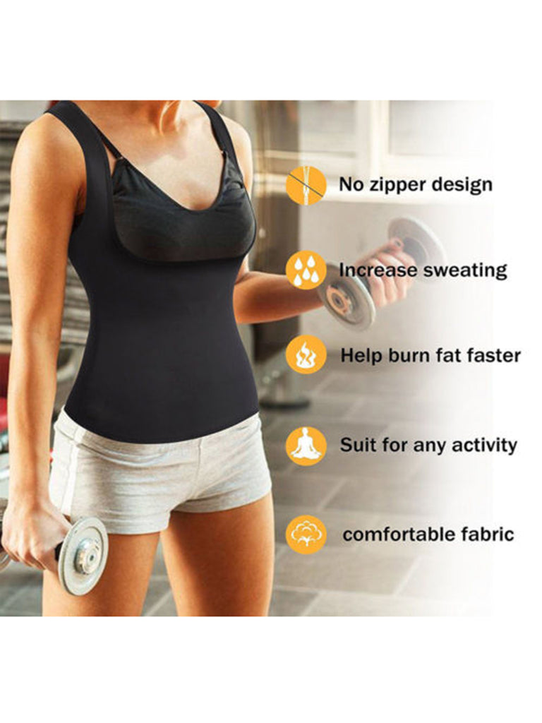 b7731b7edd1 ... Women Body Hot Vest Slimming Reducer Vest Shirt Underbust Sauna Shaper  Cami Top ...