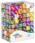 Oakie Doakie Dice: D6 12mm - 192 Assorted Dice