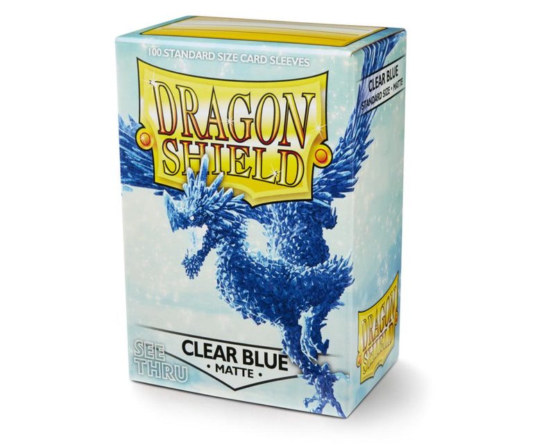 Dragon Shield: Matte Clear Blue Standard Size Sleeves