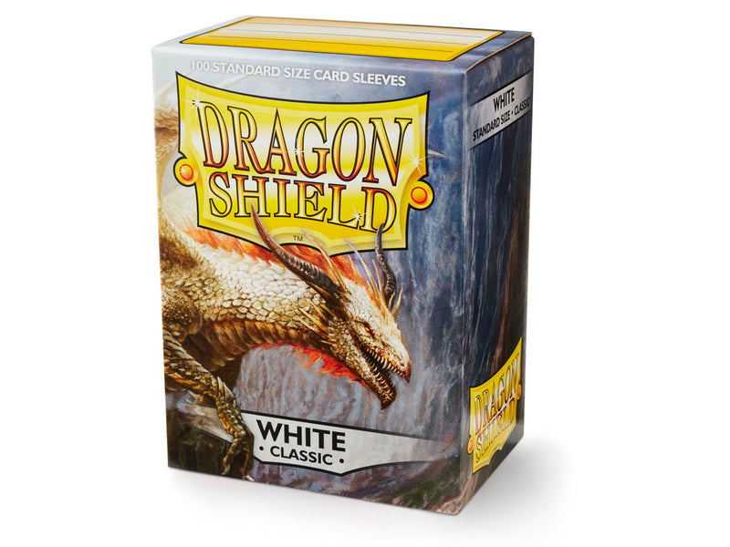 Dragon Shield: Classic White Standard Size Sleeves