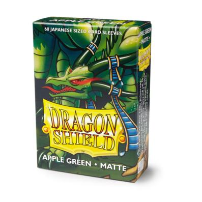 Dragon Shield: Matte Apple Green Japanese Size Sleeves 60ct