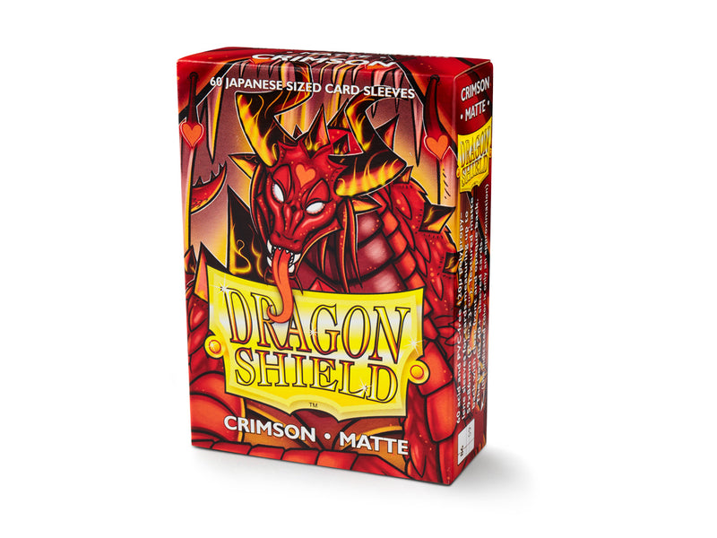 Dragon Shield: Matte Crimson Japanese Size Sleeves 60ct