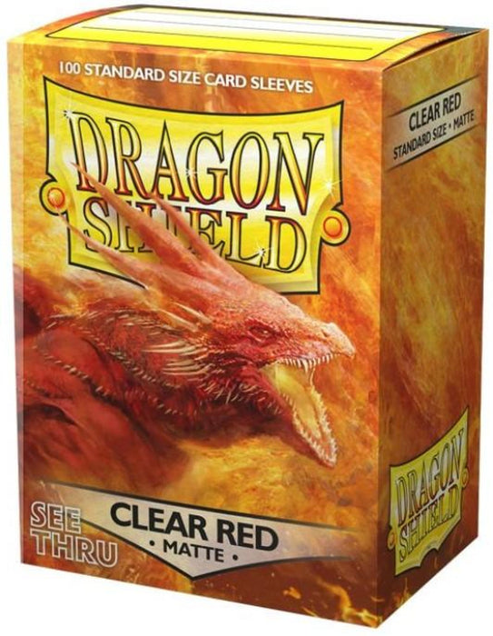 Dragon Shield: Matte Clear Red Standard Size Sleeves