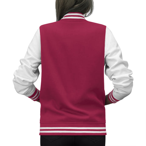 Women's Embroidered Varsity Jacket