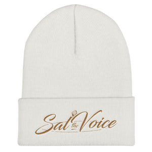 Women's Embroidered Cuffed Beanie