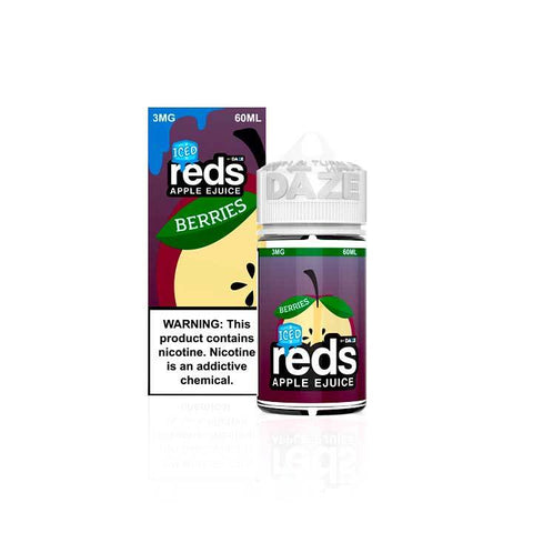 Berries ICED Reds Apple eJuice - 7 Daze - 60mL Vape Juice