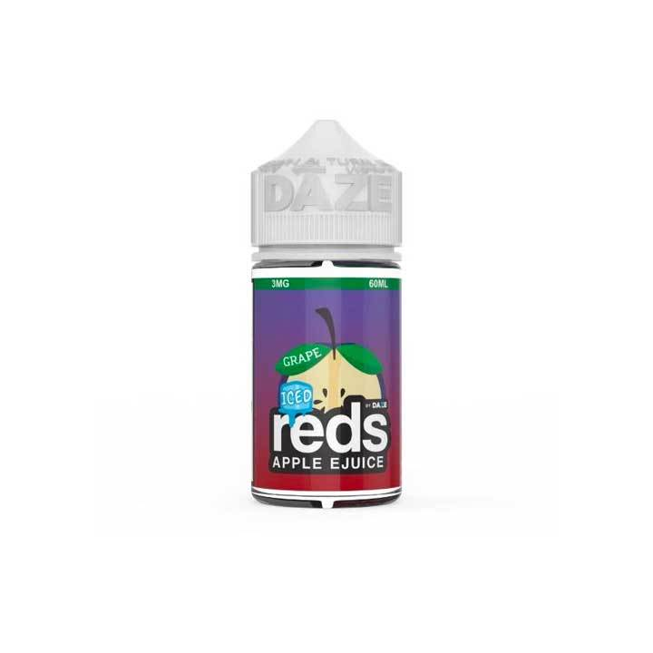 Grape ICED Reds Apple eJuice - 7 Daze - 60mL Vape Juice