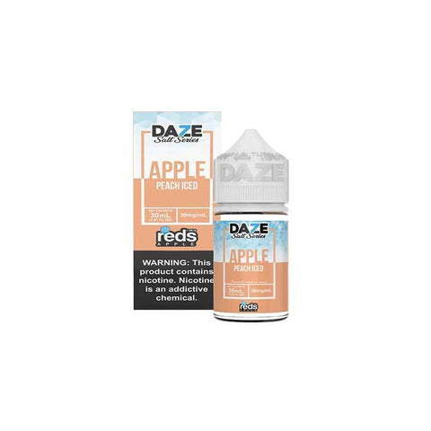 Peach ICED Reds Apple - 7 Daze SALT - 30mL Salt Nic