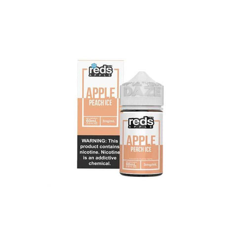 Peach ICED Reds Apple eJuice - 7 Daze - 60mL Vape Juice