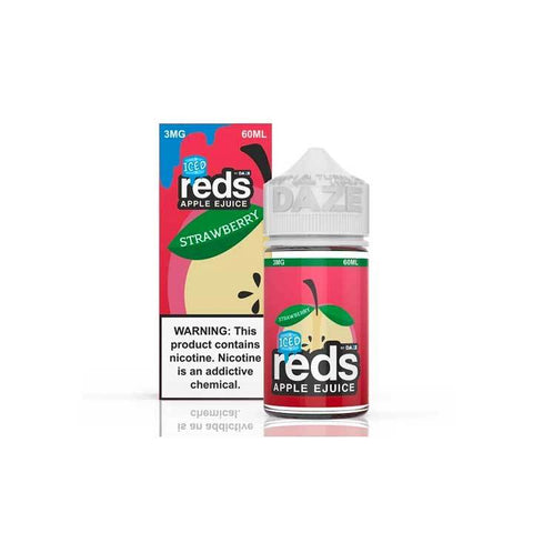 Strawberry ICED Reds Apple eJuice - 7 Daze - 60mL Vape Juice