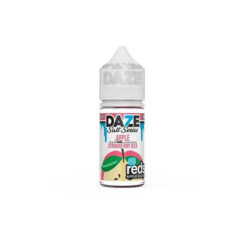 Strawberry Iced Reds Apple eJuice - 7 Daze SALT - 30mL Salt Nic