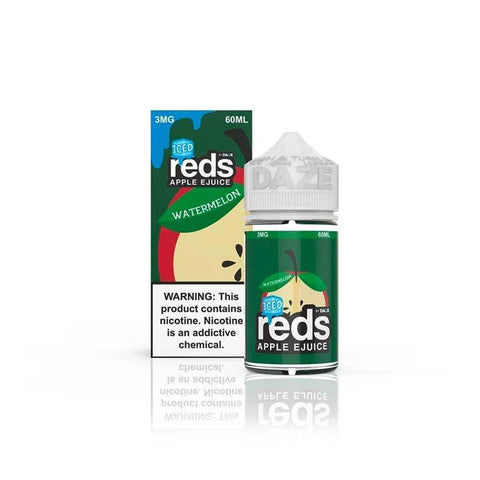 Watermelon ICED Reds Apple eJuice - 7 Daze - 60mL Vape Juice