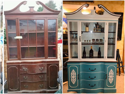 China Cabinet with Camelot Blue