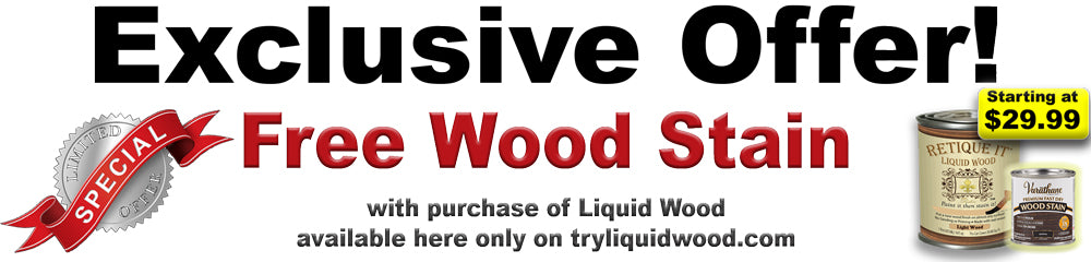 Get your wood stain for free when you order one of these kits