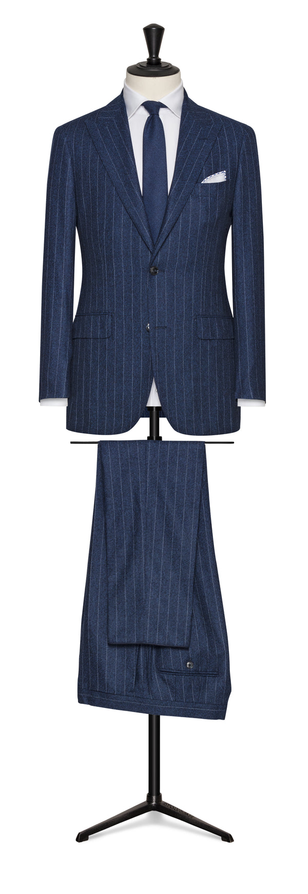Blue Chalk Stripe Suit