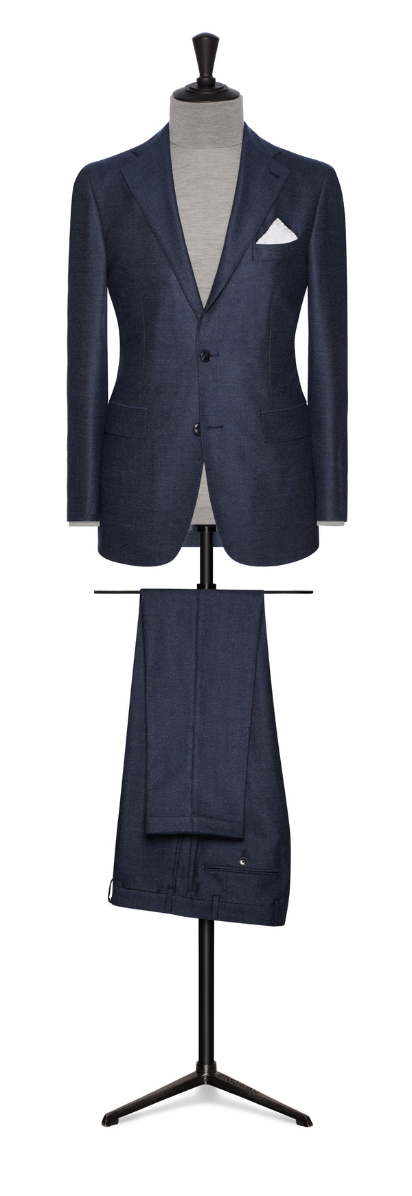 Denim Blue Melange Flannel Suit