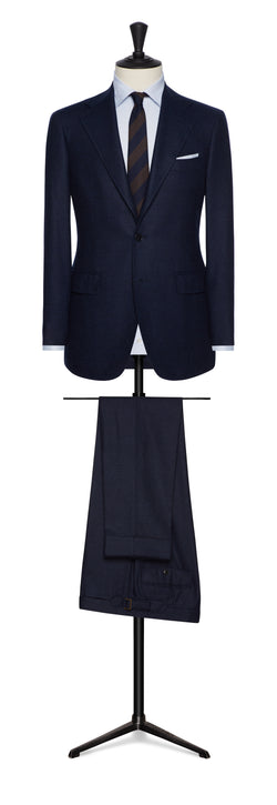 Navy Flannel Hopsack Suit