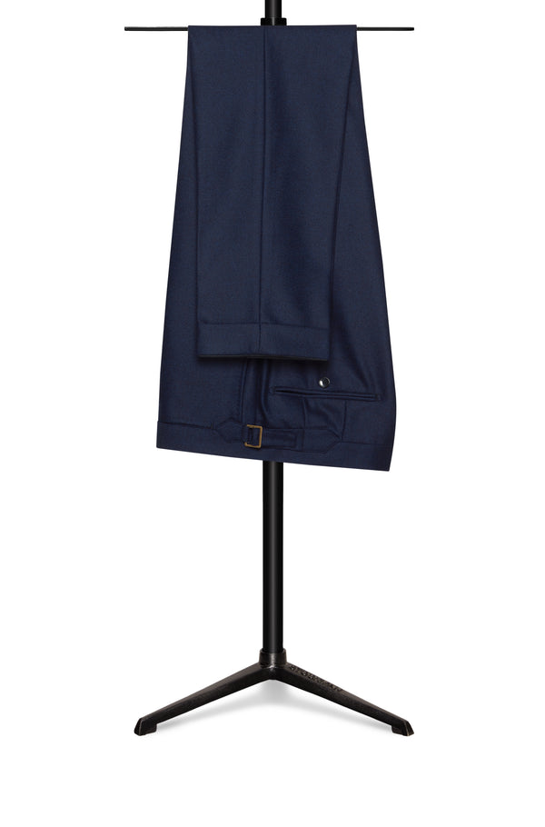 Navy Comfort Wool Trousers