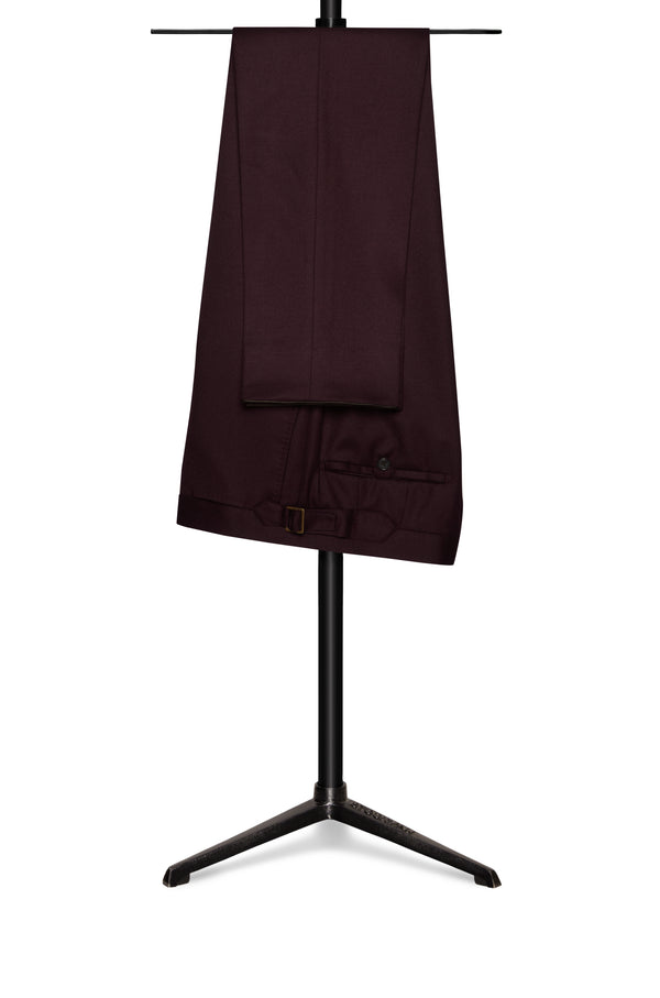 Burgundy Flannel Trousers