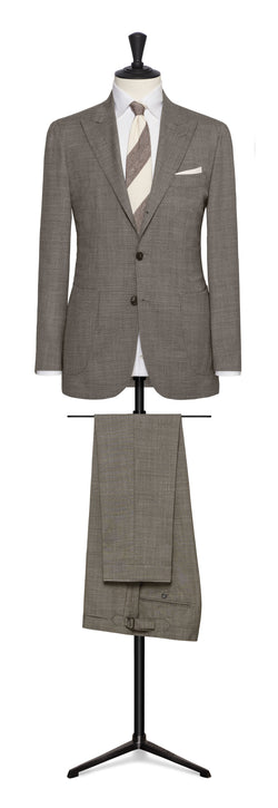 Vitale Barberis Taupe Summer Wool Suit