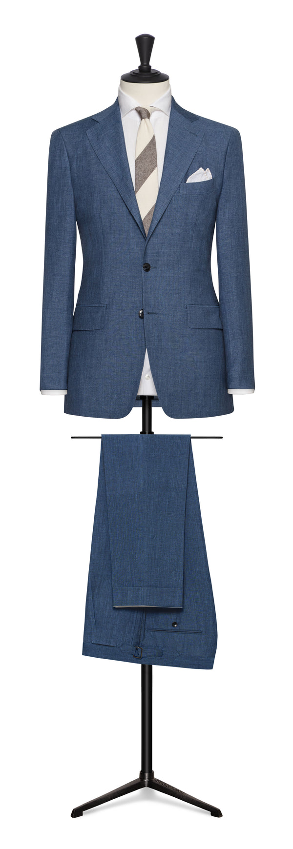 Solbiati Denim Linen Wool Silk Suit
