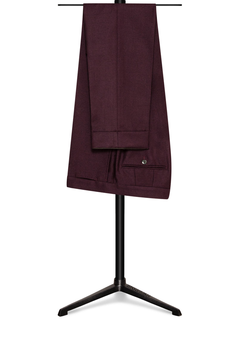 Marzotto Eggplant Brushed Wool Trousers
