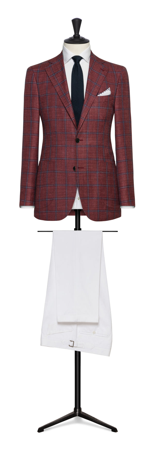 Loro Piana Raspberry Windowpane Sport Coat