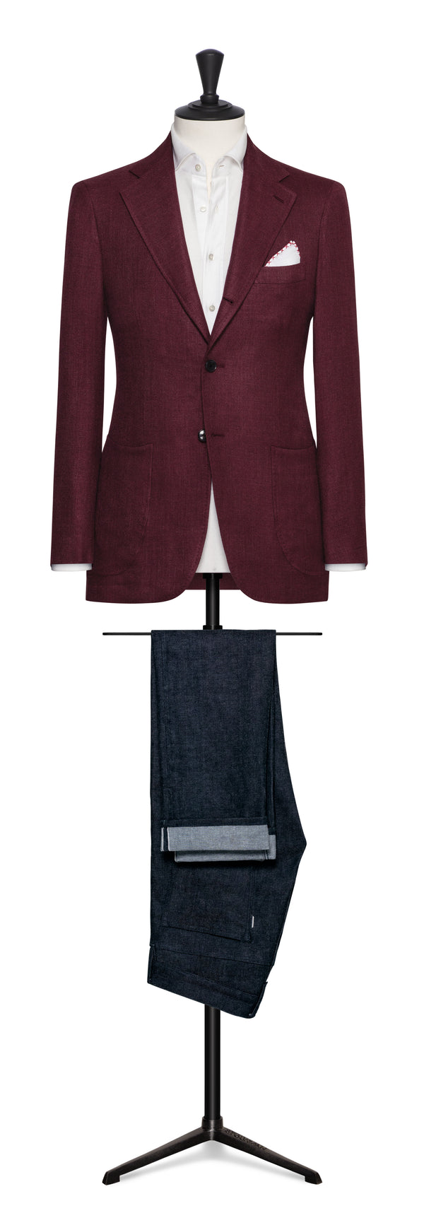 Loro Piana Burgundy Basketweave Sport Coat