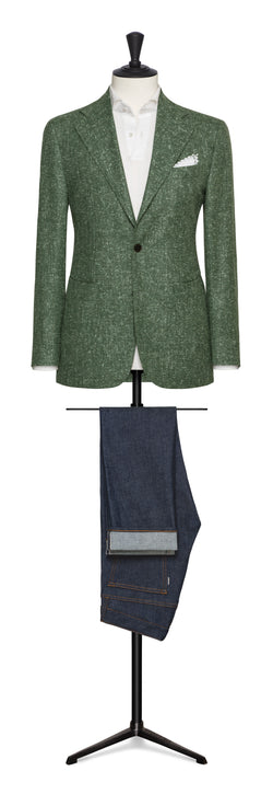Loro Piana Wool Silk Linen Sport Coat - Green
