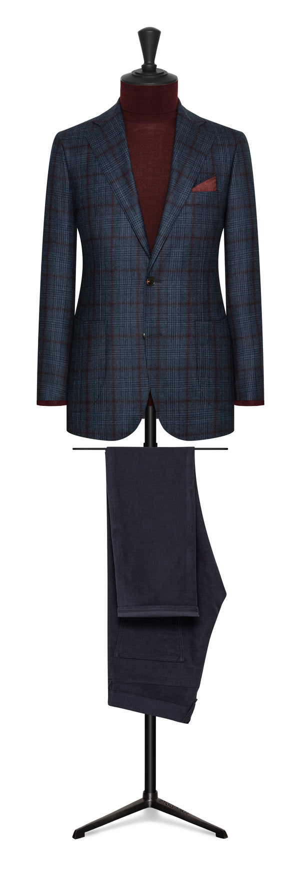 Loro Piana Pilot Blue Check Sport Coat