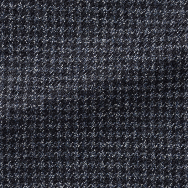Loro Piana Pilot Blue Houndstooth Wool Silk Sport Coat