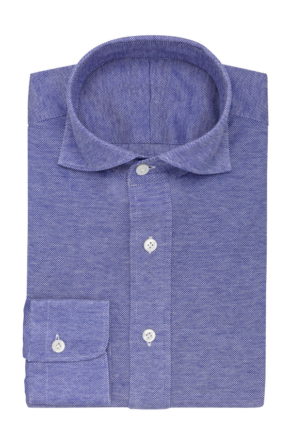 Medium Blue Knit Shirt