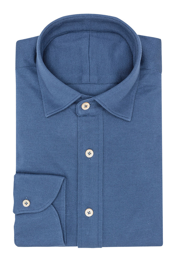 Indigo Blue Knit Shirt