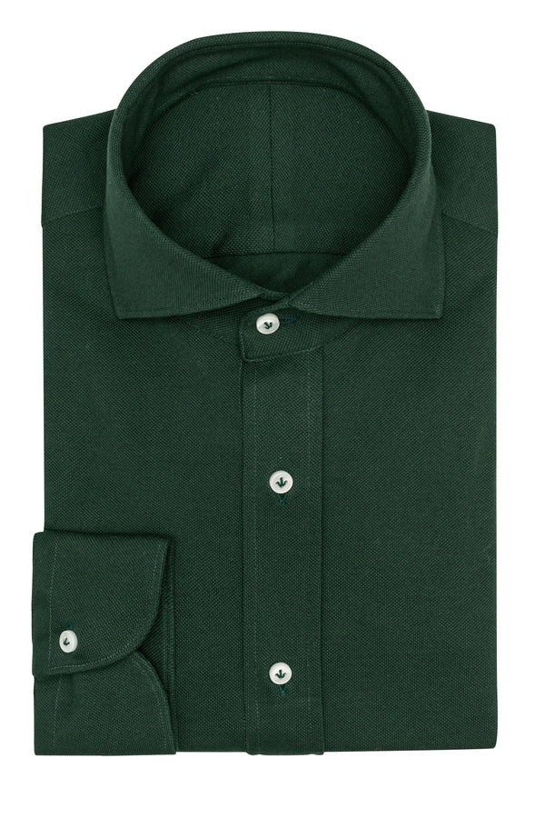 Forest Green Knit Shirt