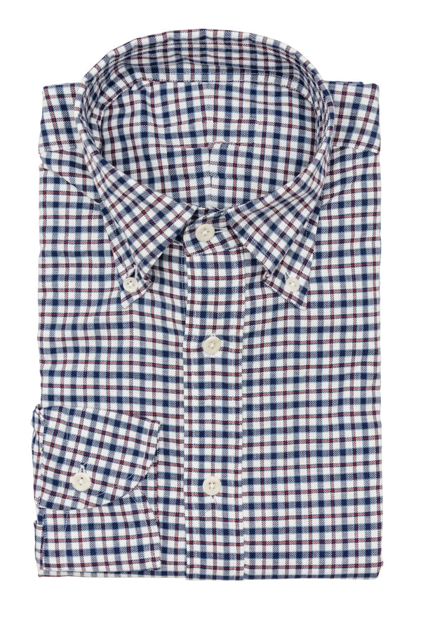 Blue Red Multi Check Shirt