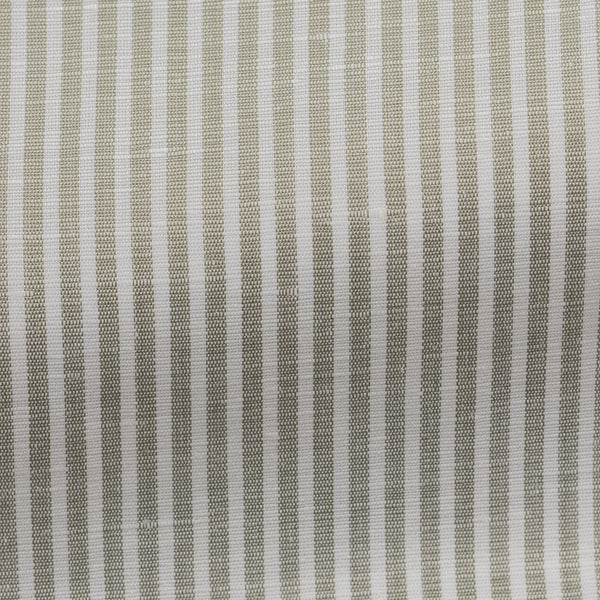 Green Linen Cotton Stripe Shirt