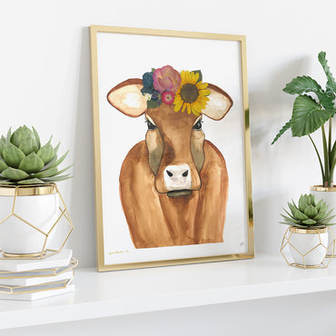 Brown Cow Print