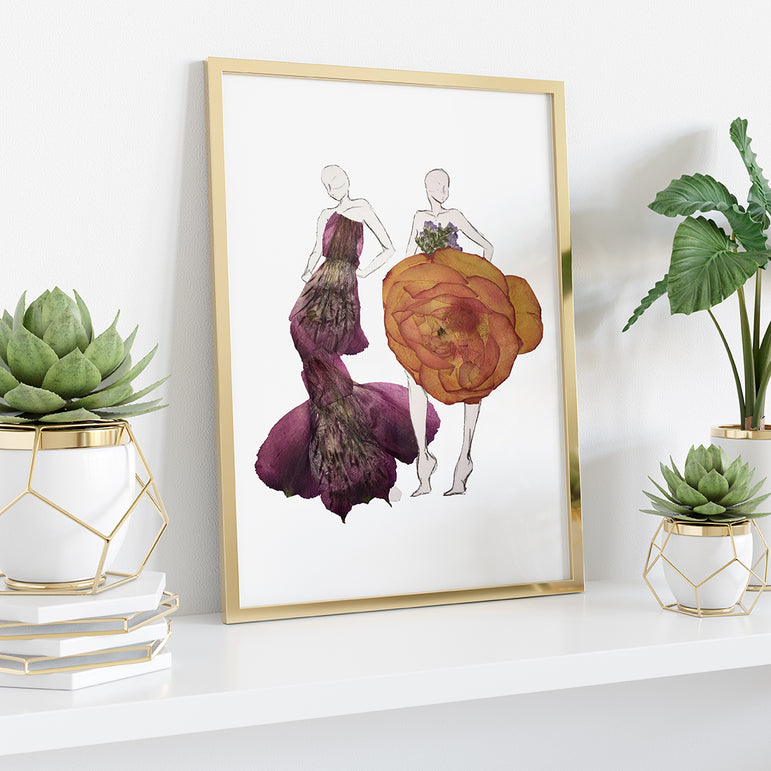 Two Flower Girls Print