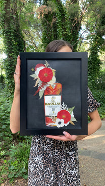PRE-SALE! Bottles & Blooms - Macallan Print