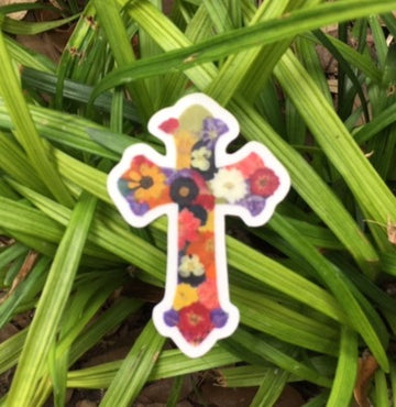 Cross Sticker