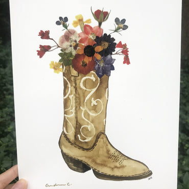 Brown Boot Print