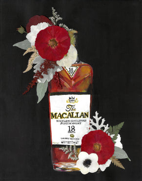 Bottles & Blooms - Macallan Print