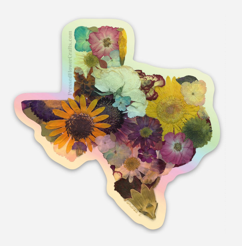 Texas Strong Holographic Sticker