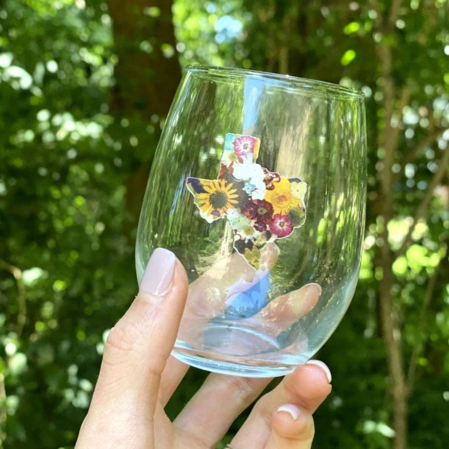 Texas Strong Wine Glass