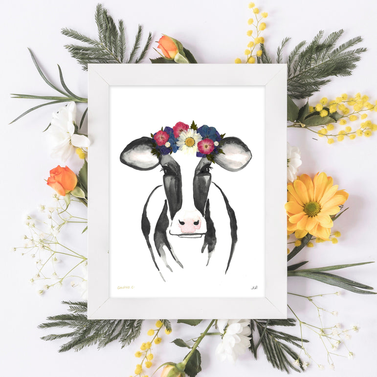 Black & White Cow Print