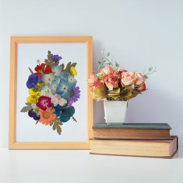 Floral Collage Print