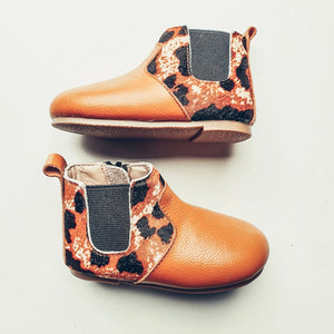 Ochre Animal Print Ankle Boots - Ollie Jays