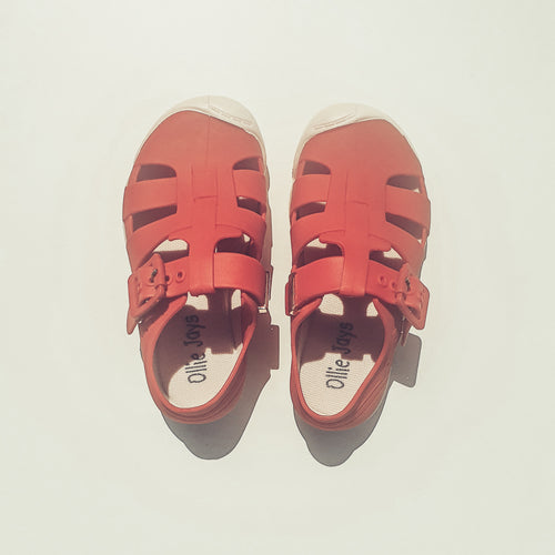 Jelly Sandals - Red - Ollie Jays